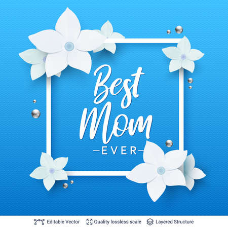 Mothers Day greeting card banner vector template. Illustration