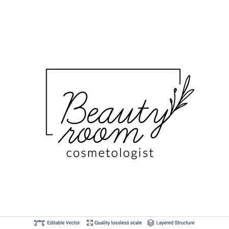 Beauty room or salon cosmetologist logo design.