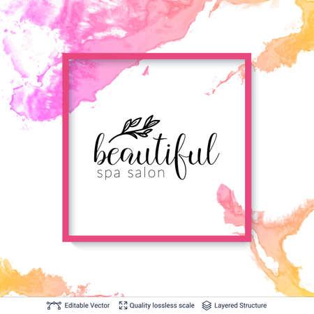 Beauty SPA care salon cosmetologist design. Illustration