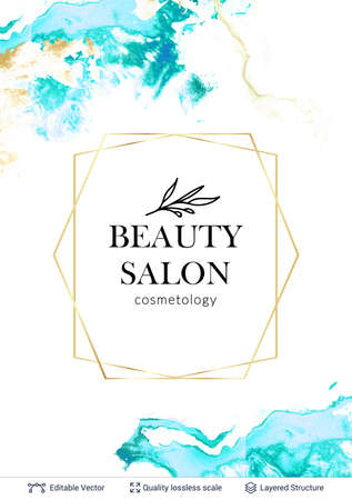 Beauty SPA care salon cosmetologist  design.