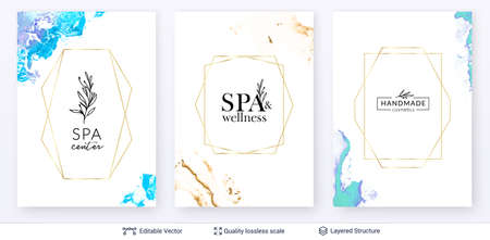 Beauty SPA care salon cosmetologist logo design.