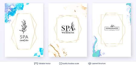 Diseño de logotipo de cosmetóloga de salón de cuidado de spa de belleza.