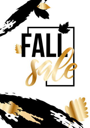 Autumn ad sale poster in luxurious style.