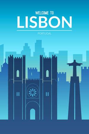 Lisbon, Portugal famous city scape view. 免版税图像 - 156308537