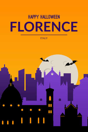 Florence, Italy. Halloween holiday background.