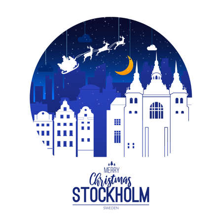 Sweden, Stockholm. Christmas holiday background.