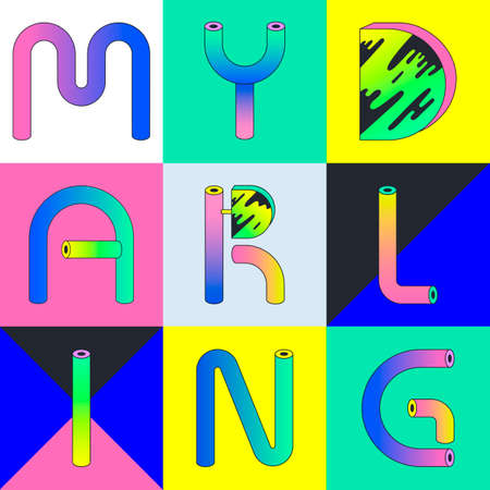 Decorative font composition
