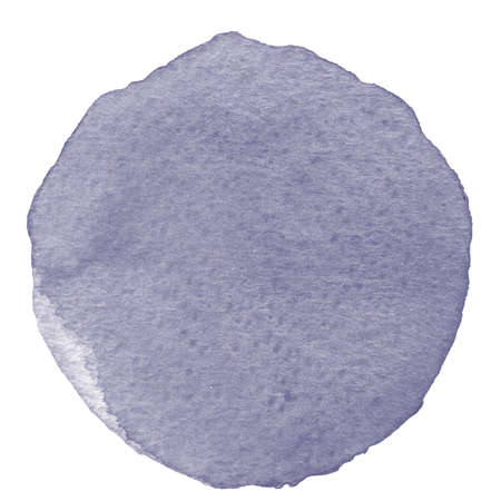 arsenic: Watercolor circle in gray color. Stain with paper texture. Watercolor design element isolated on white background. Hand drawn watercolor circle shape background.