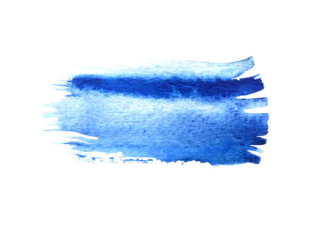 watercolor brush: Blue watercolor brush strokes with space for your own text. Wet brush stroke on paper texture. Dry brush strokes. Abstract composition for design elements