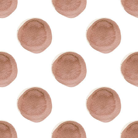 abstract pattern with of watercolor circles in shades of pink
