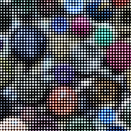 computer club: Abstract textured halftone background. Multicolored background of buttons. Buttons of the circle shape of variation textures