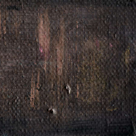painting: Abstract dark brown acrylic hand paint background. Part of oil painting with brush strokes. Background of detail of brown acrylic painting.