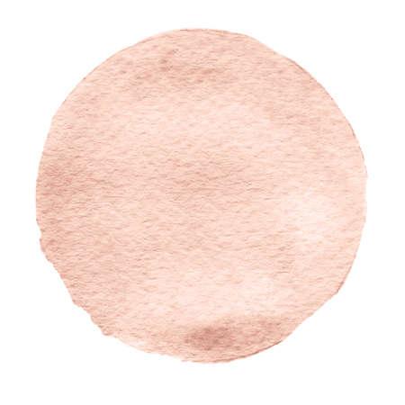 Cercle aquarelle beige. Aquarelle tache avec des bords inégaux isolés sur fond blanc. Élément de conception. Aquarelle forme géométrique rétro Banque d'images - 81855259