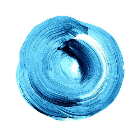 light and dark blue textured acrylic circle watercolour stain