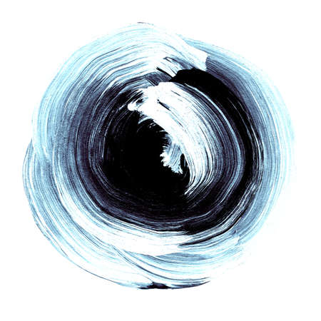 blue black textured acrylic circle watercolour stain with uneven