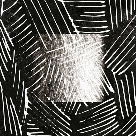 Hand drawn ink texture with stripe and lines. Freehand patterns and backgrounds for fabric, print, design.