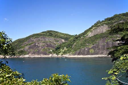Peaceful hills and sea photo