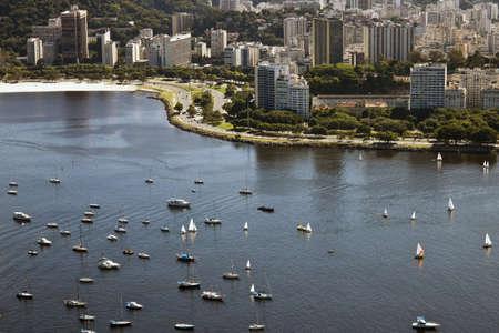 Botafogo beach, yachts and buildings in Rio de Janeiro photo