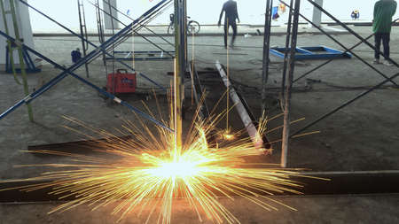 construction: Welding works Stock Photo