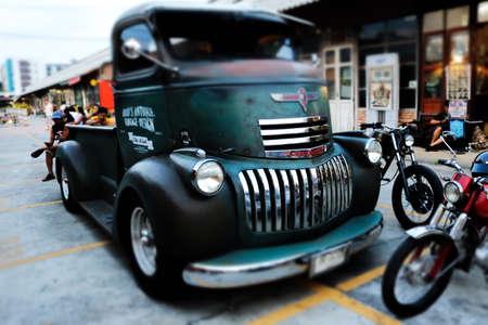 rd: The old car Train Night Market Srinakarin, Srinakarin Rd. Bangkok Thailand