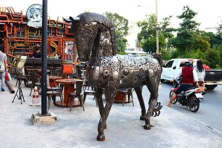 iron: Iron Horse Train Night Market Srinakarin, Srinakarin Rd. Bangkok Thailand