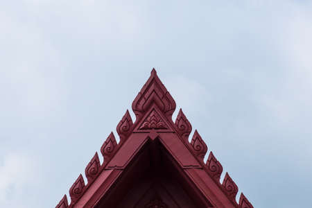 gable: Top of the roof gable Stock Photo