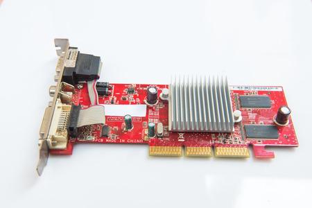 electronic background: Electronic circuit on white background Stock Photo