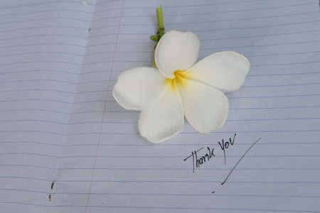 Bericht van dank met bloem