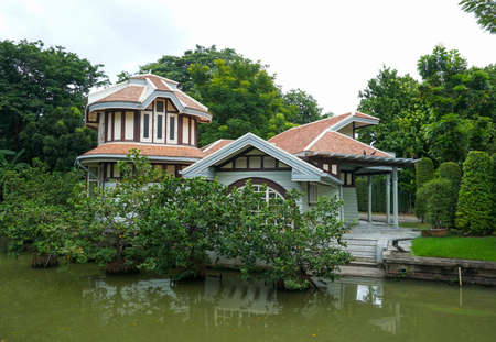 BANGKOK, THAILAND- oct 9, 2016: Phayathai Palace (Wang Phaya Thai) Construction of Phayathai Palace began in 1909. It was built at King Rama V, is on the banks of the Samsen Canal on Rajvithi Road