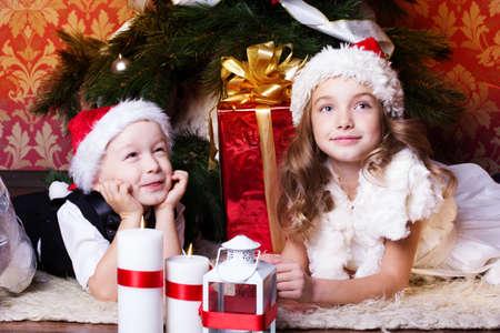 hart: Happy children with christmas presents