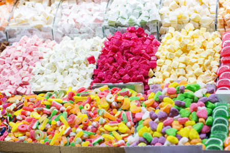 delight: Turkish sweets colorful delight Lokum
