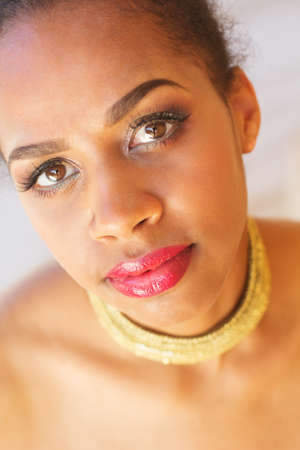 zulu: Portrait of young south african zulu girl is wearing jewelry