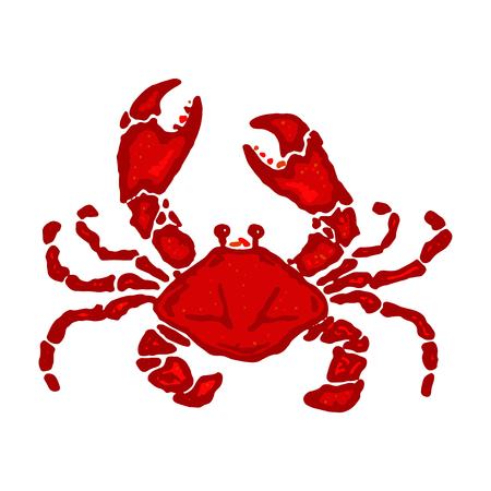 Crab vector illustration in cartoon style. Seafood product design. Boiled crab 일러스트