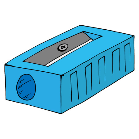 Icône de taille-crayon. Illustration vectorielle d'un taille-crayon. Taille-crayon dessiné à la main.