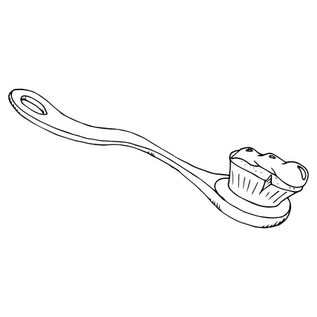 Toothbrush icon. Vector of a toothbrush. Hand drawn toothbrush.