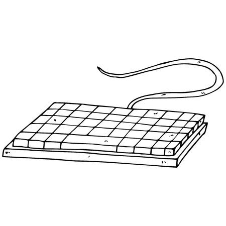 Computer keyboard. Vector illustration keyboard. Hand drawn computer keyboard. 일러스트