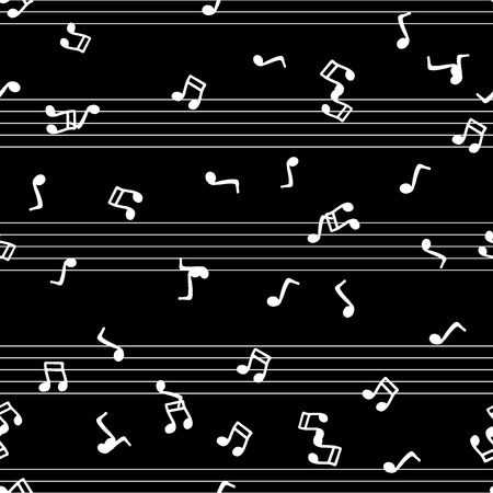 Musical notes seamless pattern. Vector illustration of musical notes seamless pattern. Hand drawn musical notes. Notebook for musical notes.