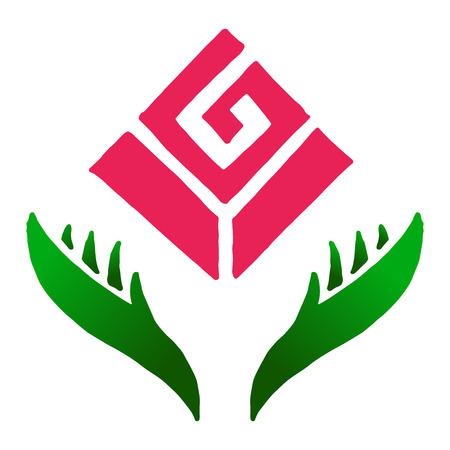 Icon, logo flower. Vector illustration of a rose. Logo rose. Flower design element. Ilustrace