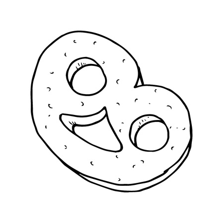 Cookies icon. Vector illustration of cookies. Hand drawn.
