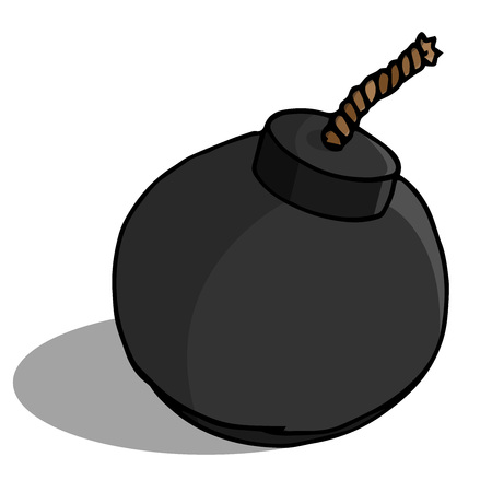 Bomb icon. Vector of a bomb. Hand drawn bomb. Illustration
