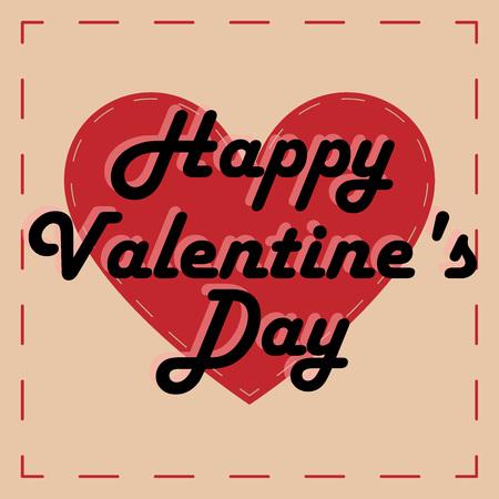St. Valentines greeting card. Happy valentines day background.  Illustration
