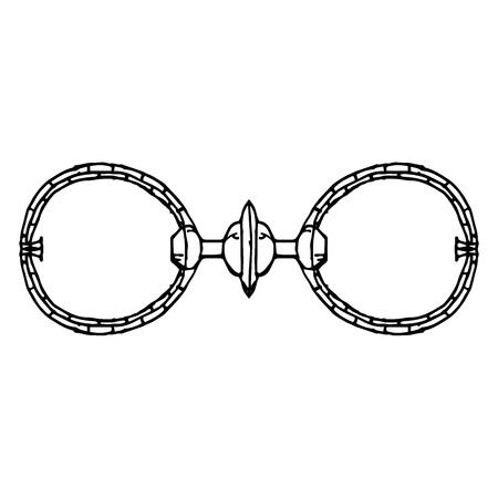 Vector illustration of the concept of an old rim under the glasses. Vintage, antique frame for glasses.