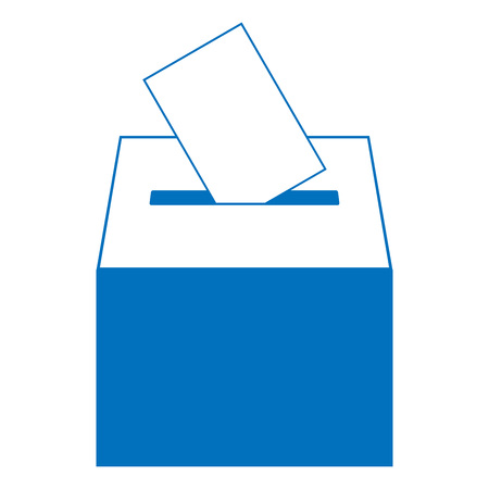 Ballot box icon. Vector illustration of a ballot box for election. Box for votes on voting.