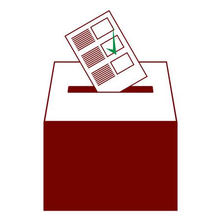 Ballot box icon. Vector of a ballot box for election. Box for votes on voting. Vectores