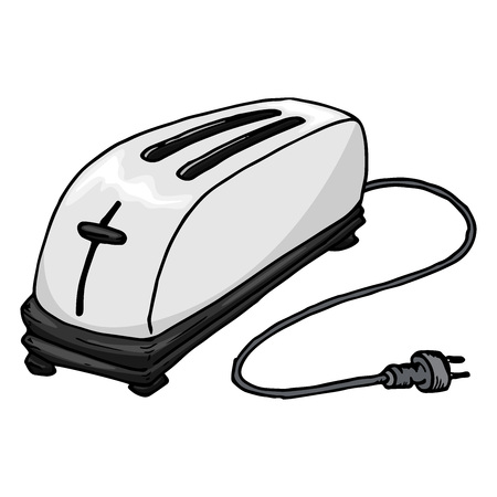 Toaster icon. Vector illustration of a toaster. Toaster hand drawn.