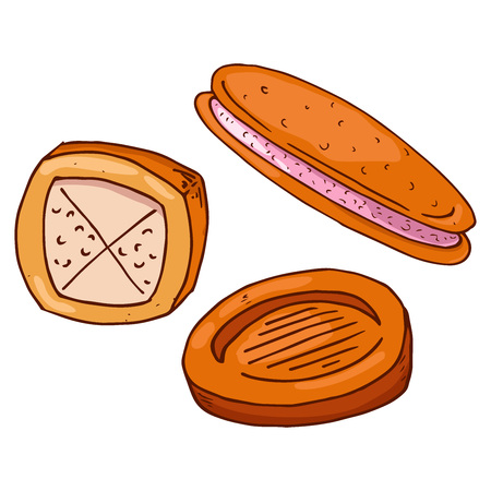 Set cookies icon. Vector illustration of cookies. Biscuit hand drawn.