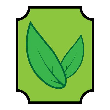 Tea leaves icon. Vector illustration of green tea leaves. Logo green tea leaves.