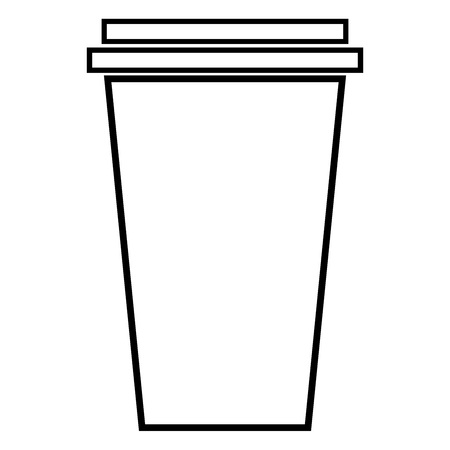 Paper cup icon. Vector illustration of a glass for tea or coffee for fast food. Plastic or paper glass with a coffee or tea. Logo for a paper cup for fast food. Logo