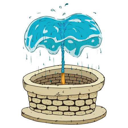 Fountain icon. Vector illustration of a fountain. Hand drawn fountain.