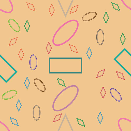 Seamless pattern of geometric shapes. Childhood pattern with simple geometric shapes. Background of the figures. Banco de Imagens - 124983356